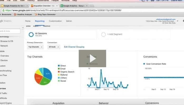 Google Analytics for Financial Advisors Video
