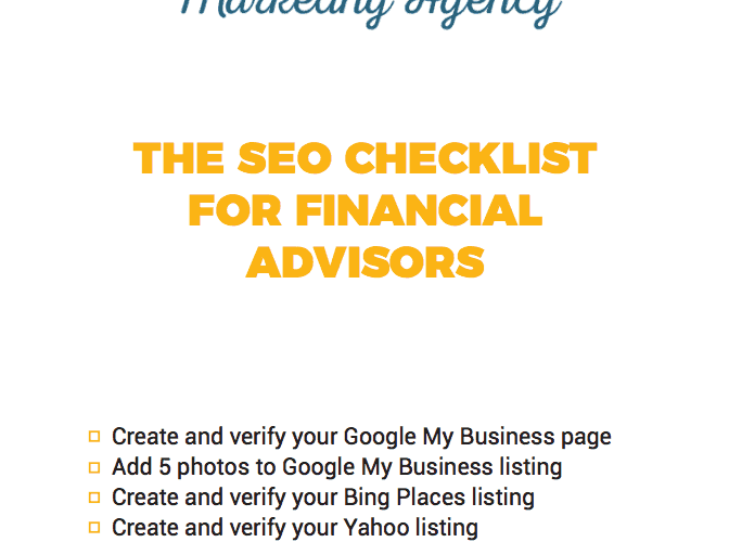 The DIY Search Engine Optimization (SEO) Checklist for Financial Advisors