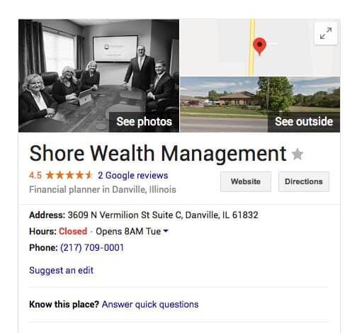 Google My Business Listing 1