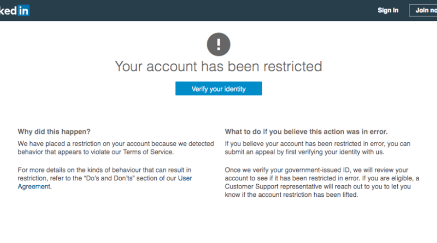 Has Your LinkedIn Account Been Restricted?