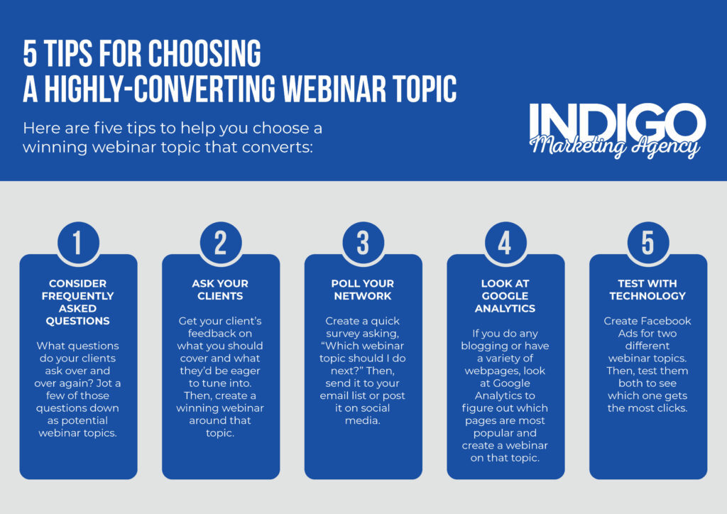Tips for choosing a webinar topic